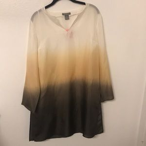 Kenar Silk Ombré tunic top with side slits
